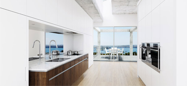 Custom White Kitchen with Miele Appliances