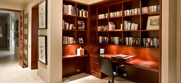 Custom home office joinery image