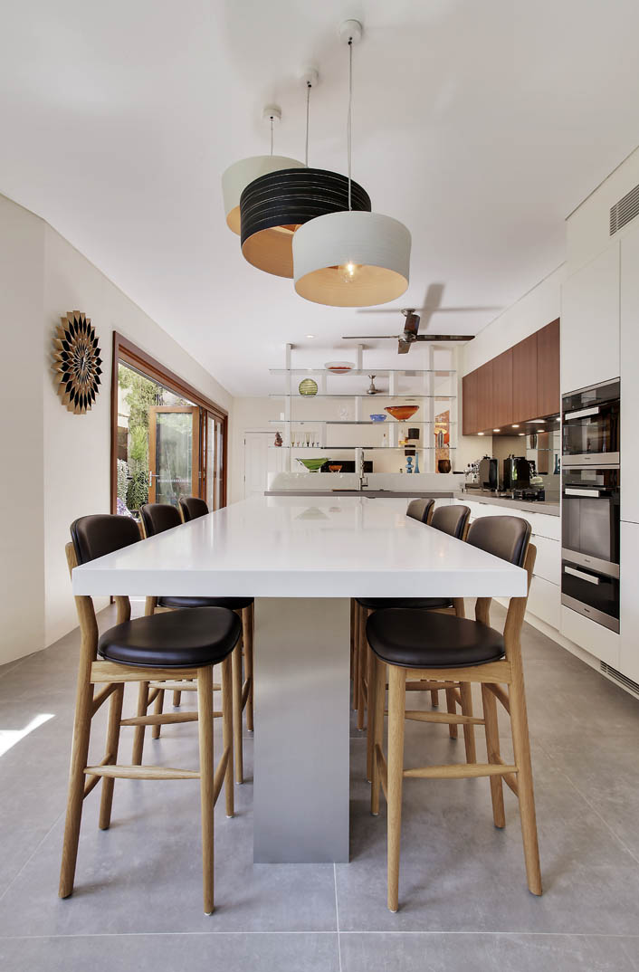 A danish kitchen renovation for an inner west terrace for Kitchen showrooms sydney west
