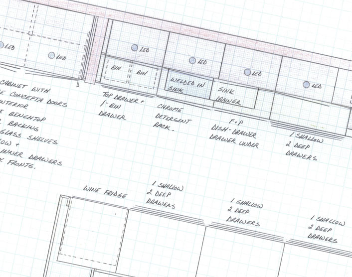 kitchen plan detail