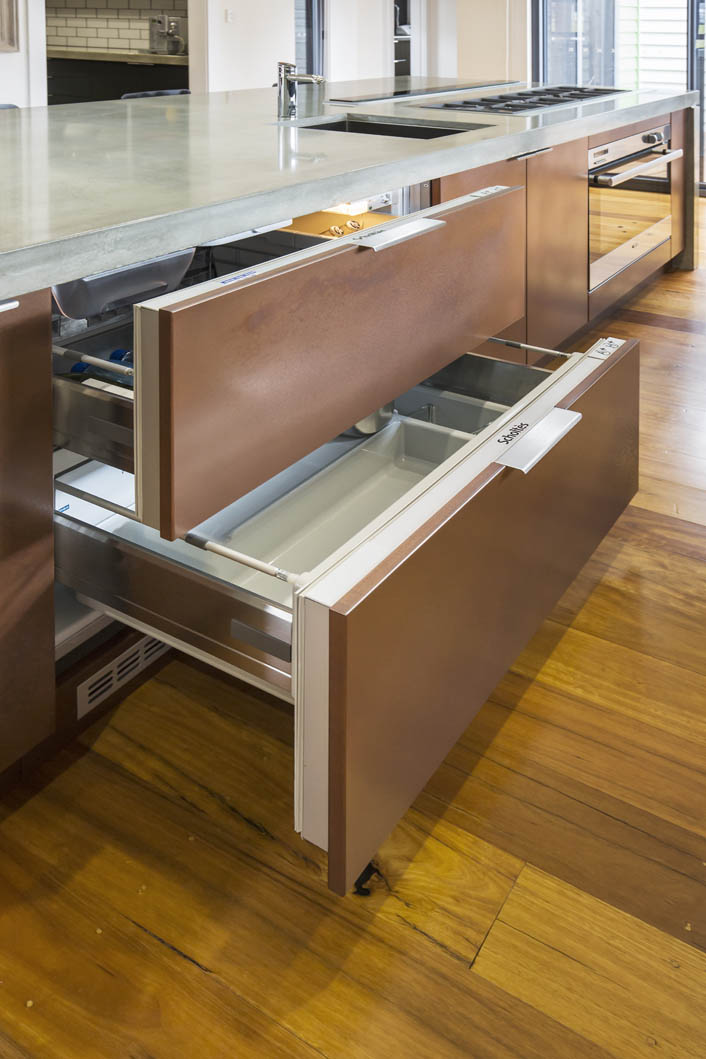 Two integrated Scholtés Fridge Drawers