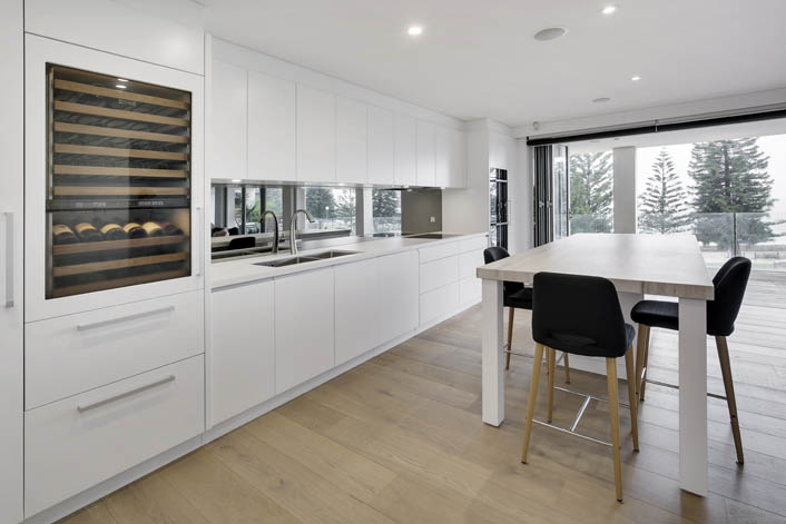 Full height kitchen to ceiling