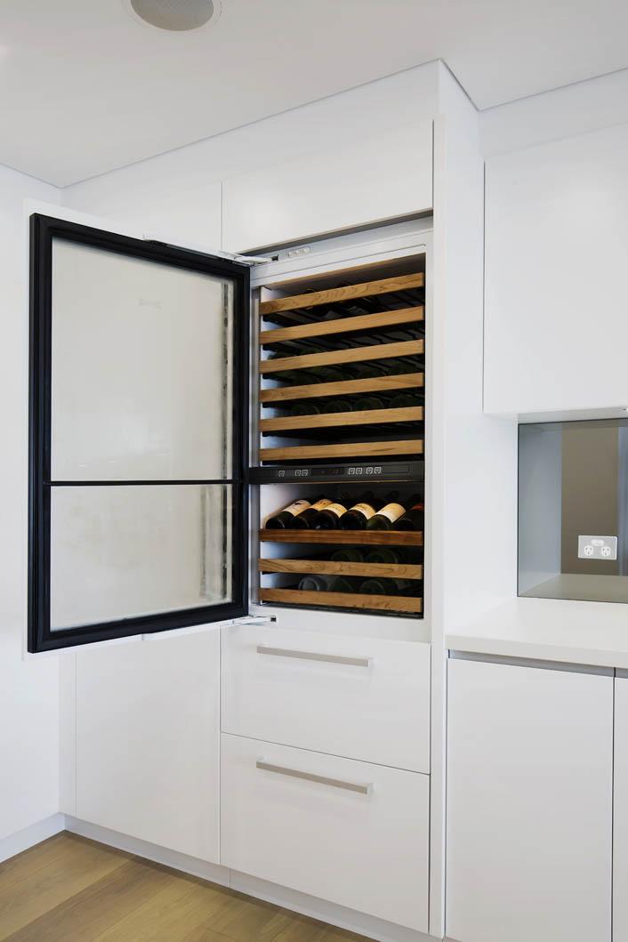 Integrated Sub-Zero Wine Storage