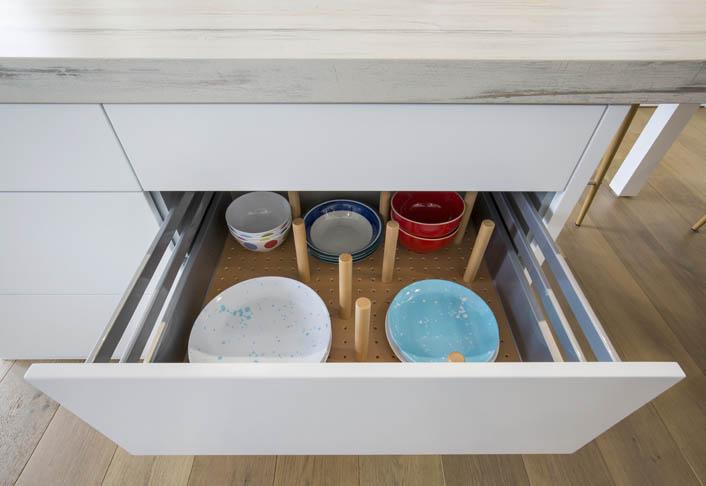 Beech timber drawer internals