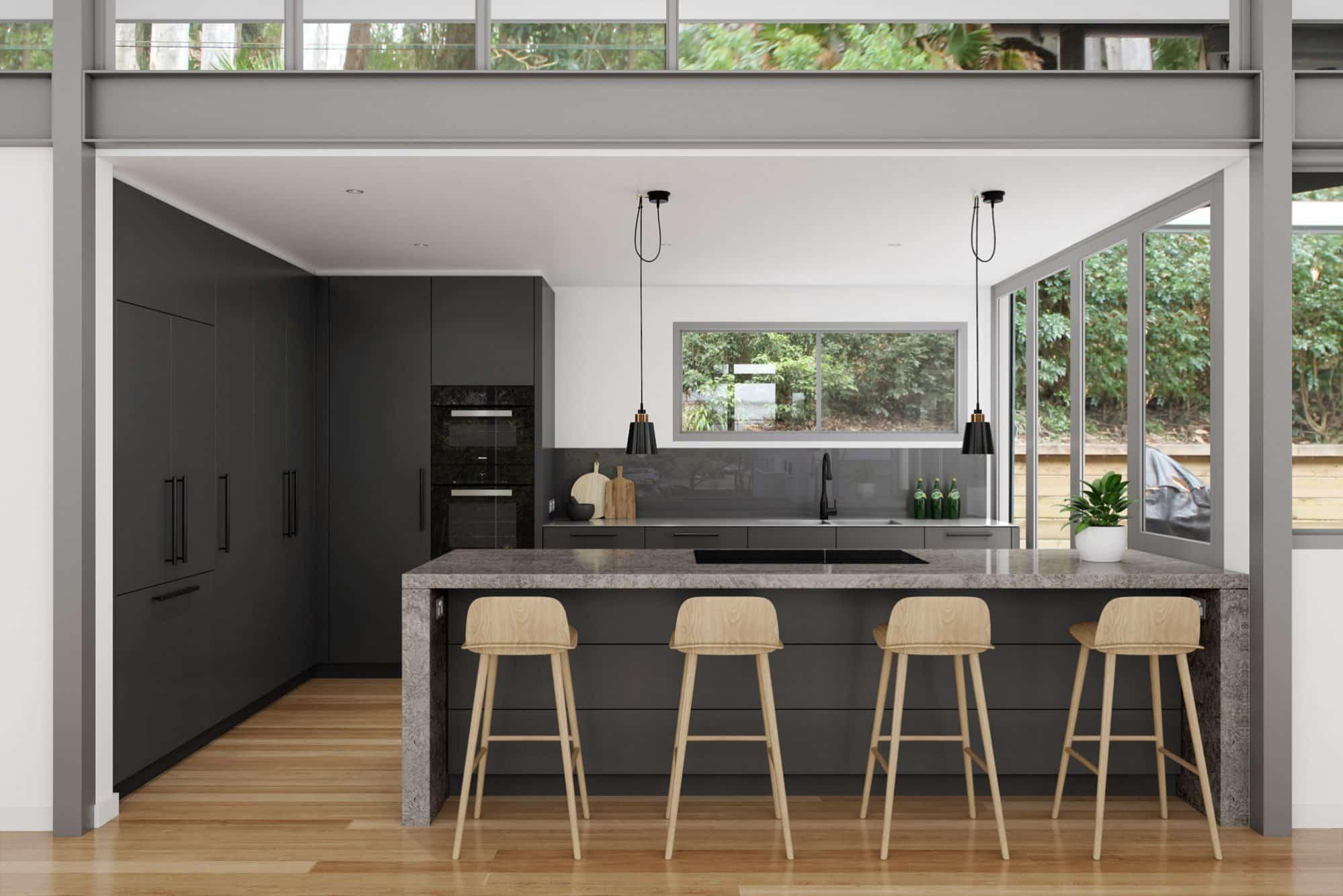 Modern Charcoal Grey Kitchen
