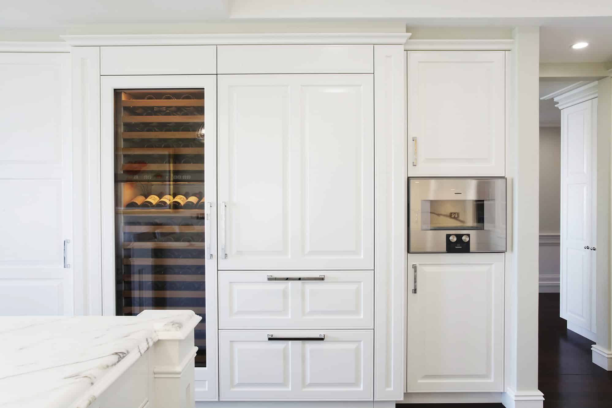 Sub-Zero and Gaggenau appliances used throughout this Hamptons kitchen