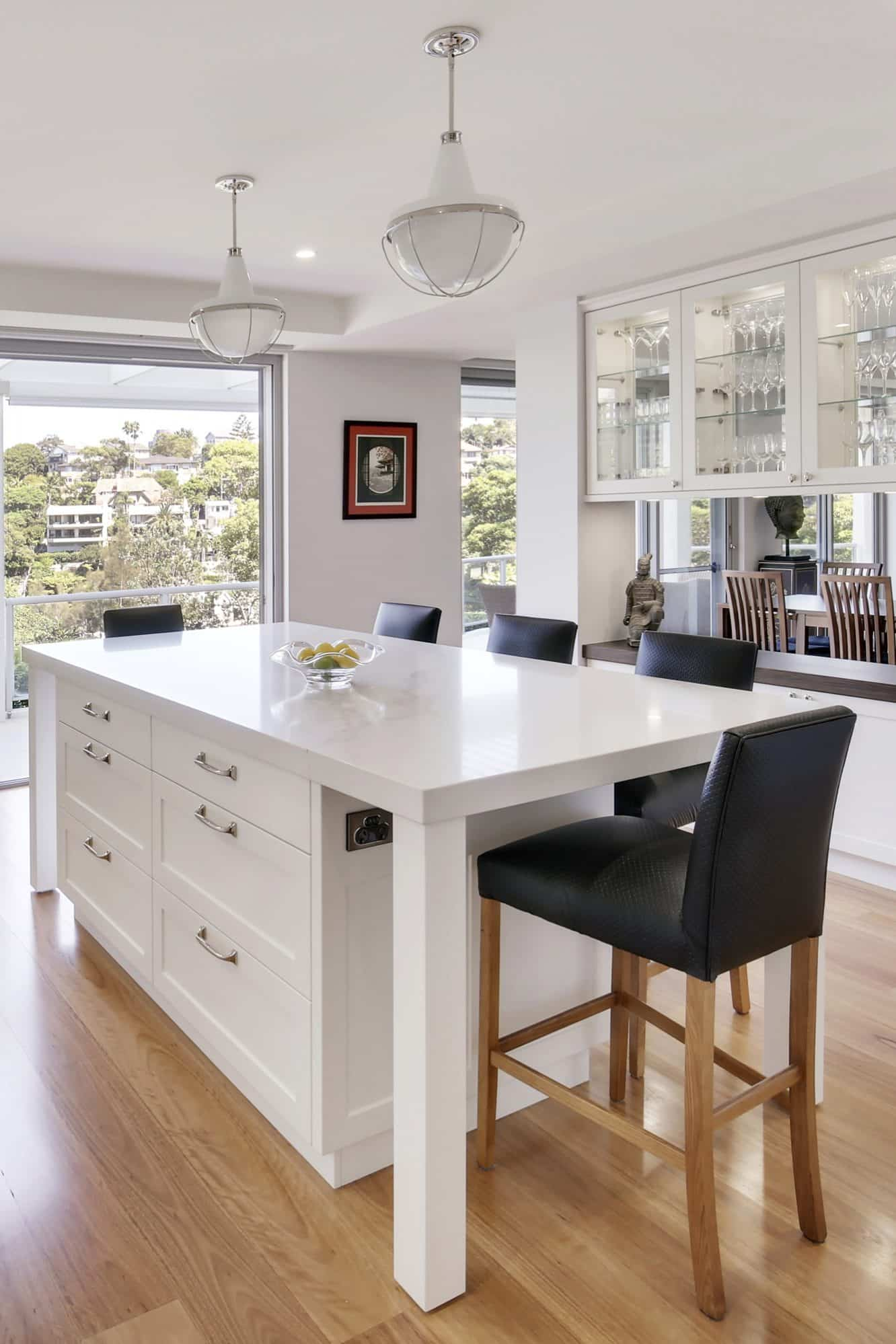 Kitchen island with table legs