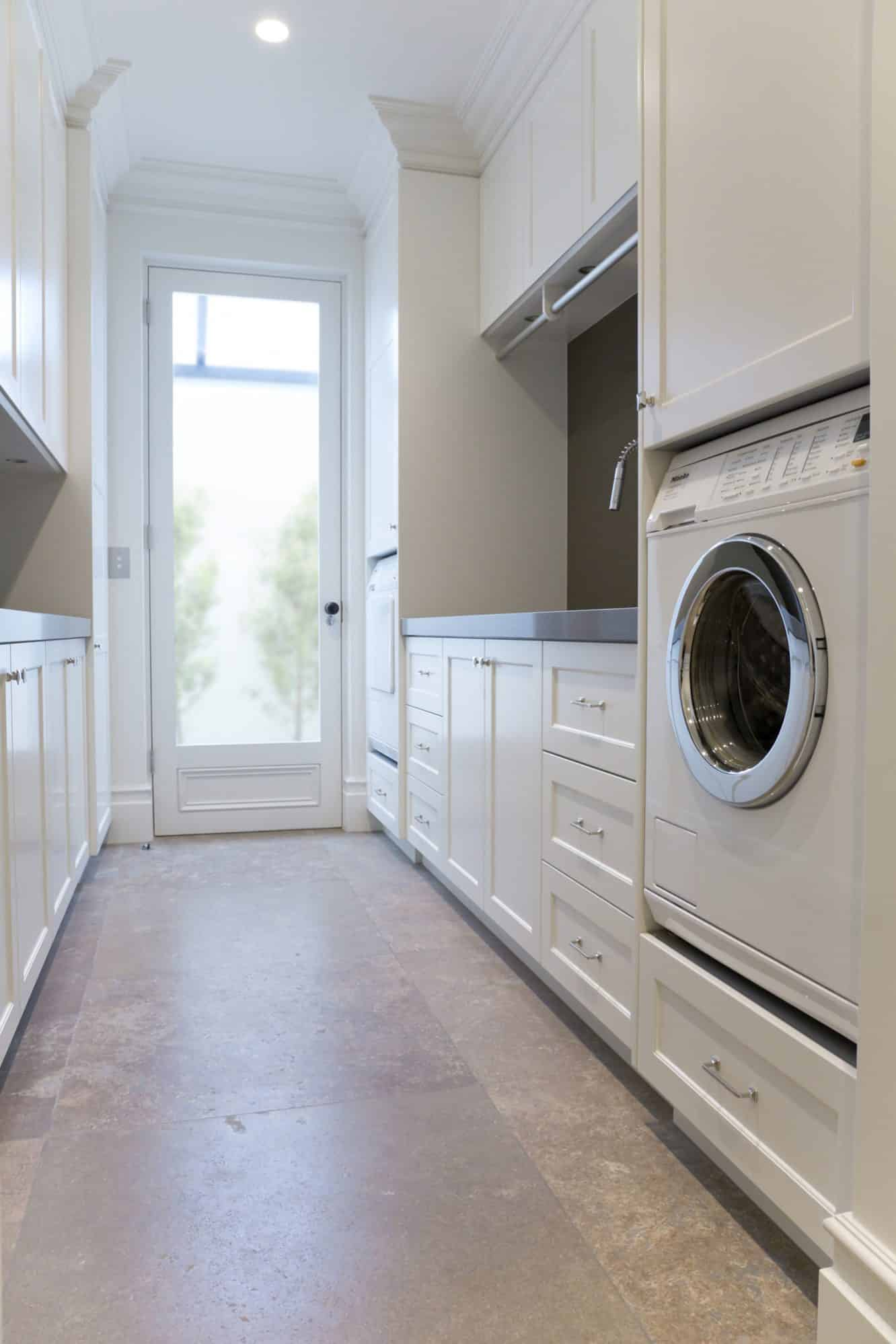 Built in Miele washer and dryer