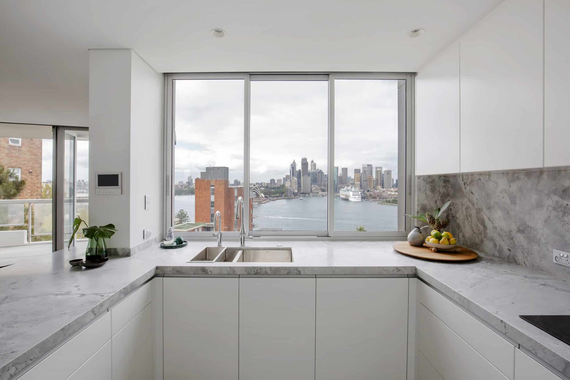 Minimal detailing to this Kirribilli kitchen