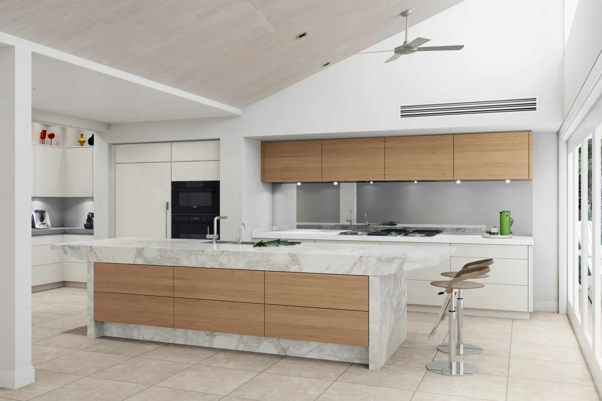 Artists impression of the kitchen