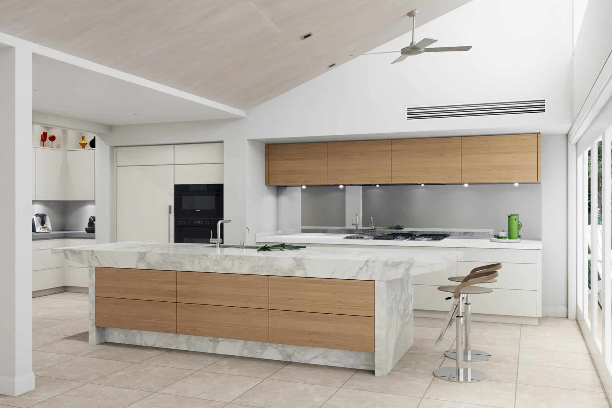 Artist's impression of the kitchen