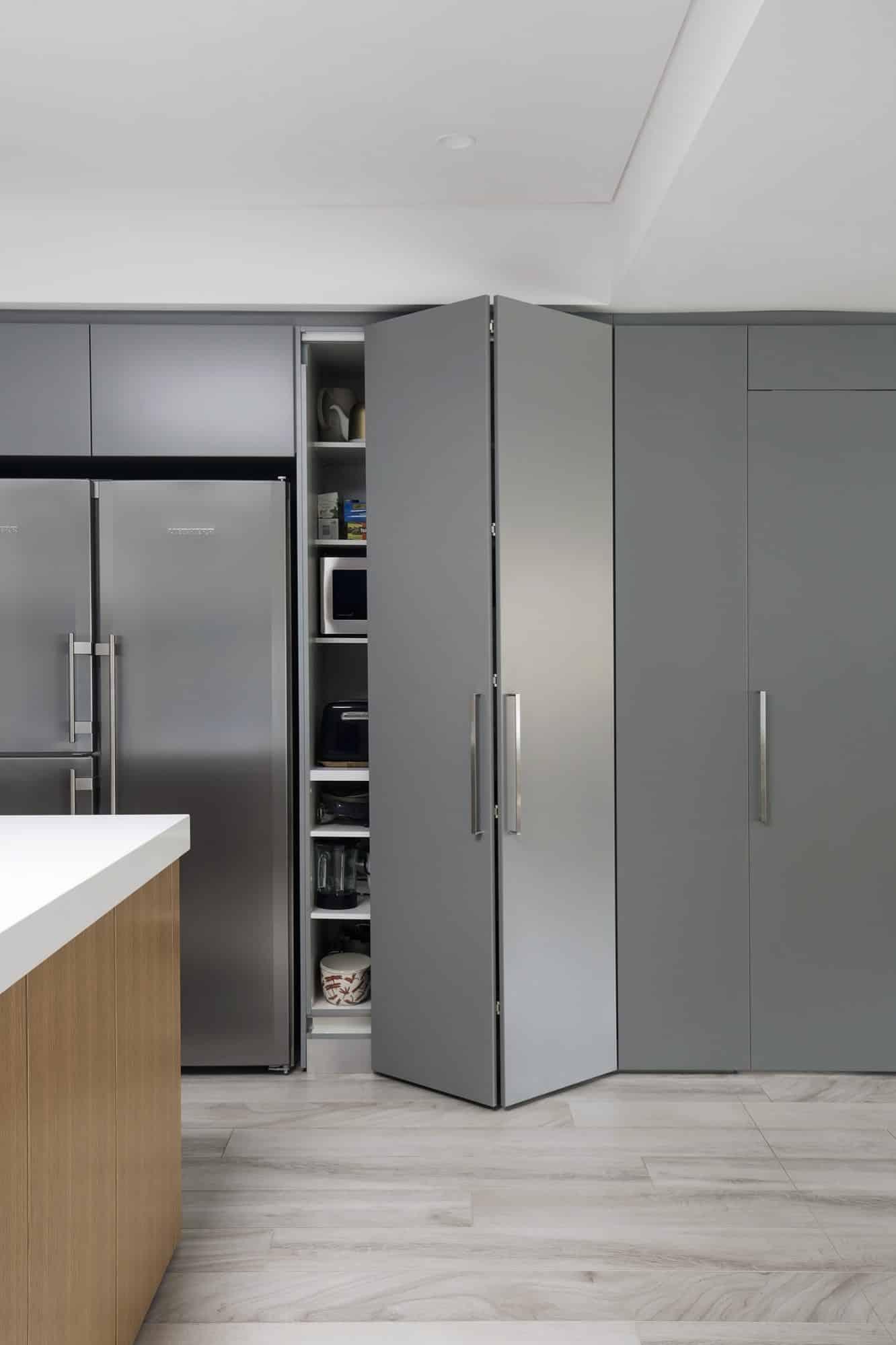 Appliance Niche behind bifold doors
