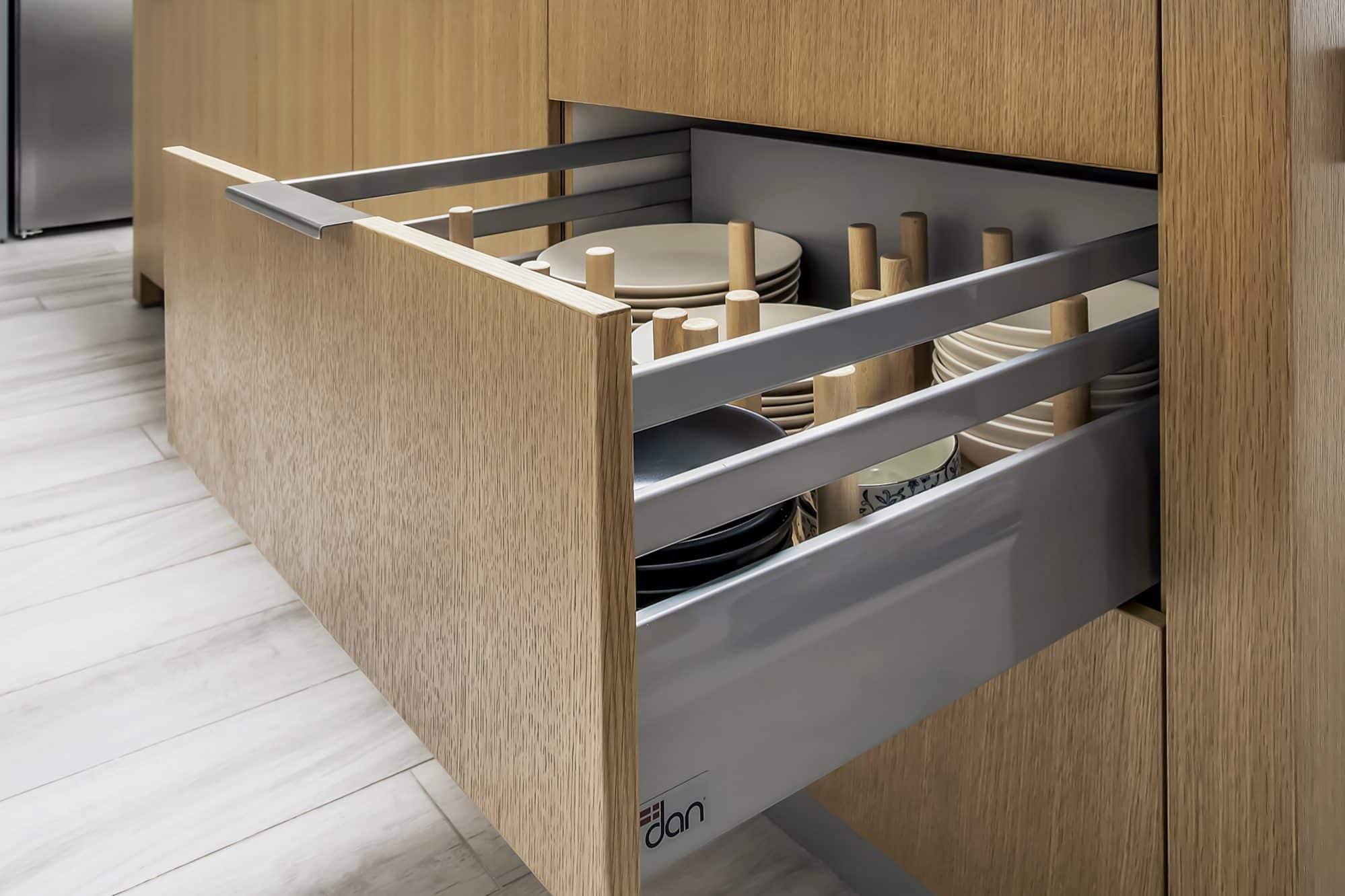 American Oak drawers