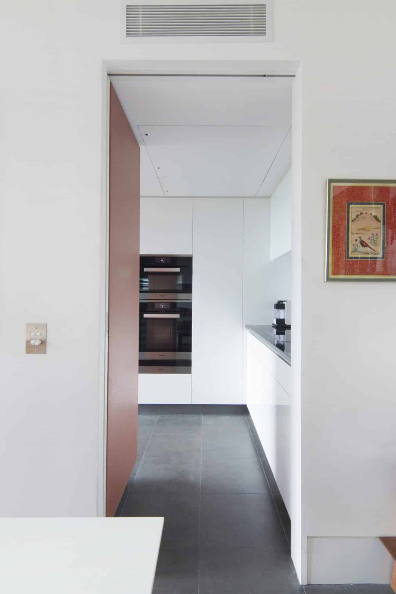 Entry in to the small kitchen