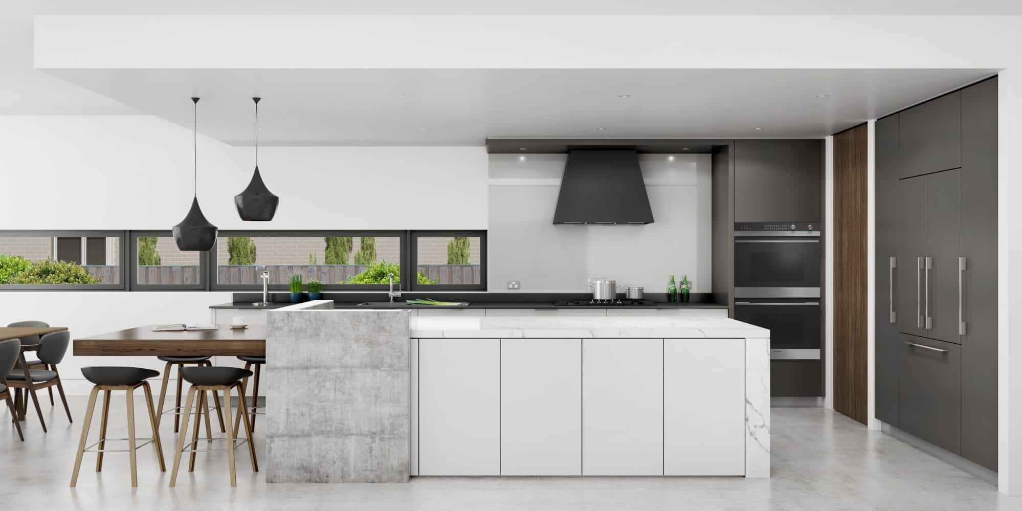 The proposed kitchen design